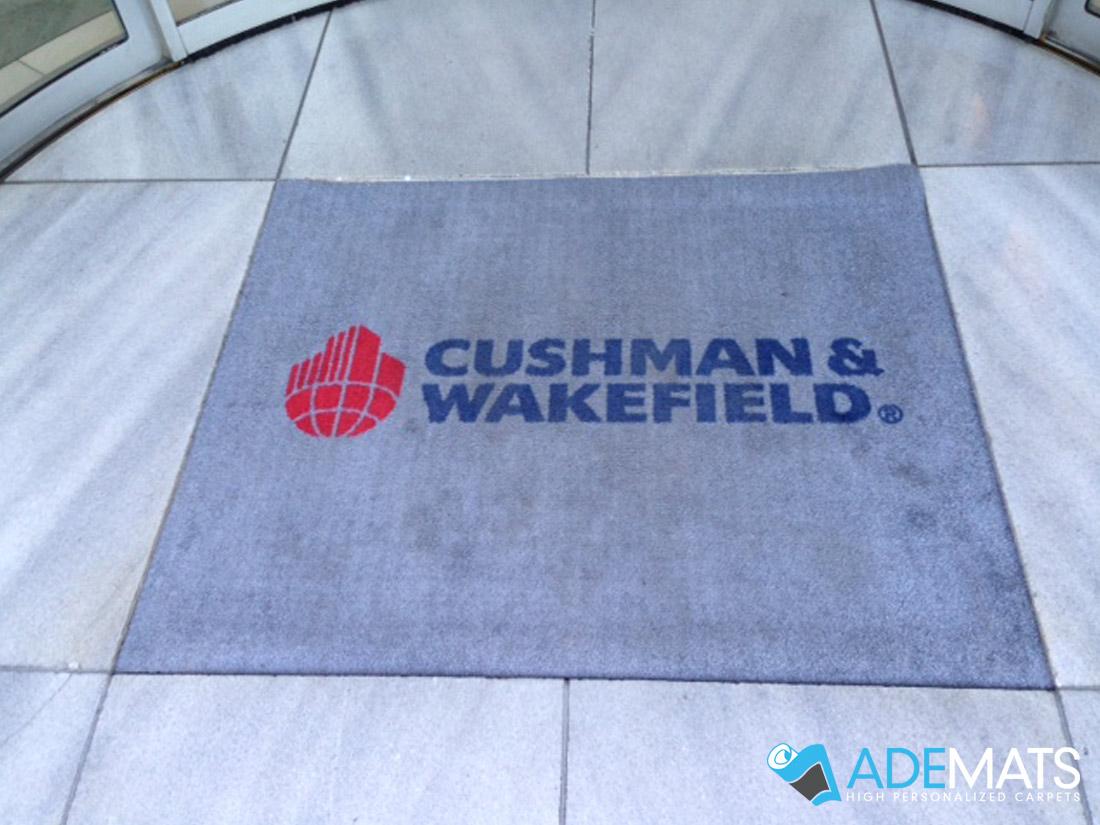 Tapis personnalisé encastré Bruxelles pour Cushman & Wakefiled