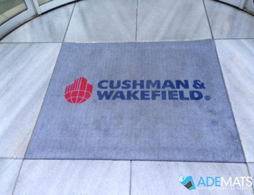 Gepersonaliseerde tapijt voor Cushman & Wakefield in Brussel