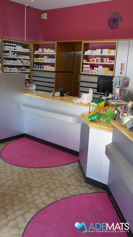 tapis demi-rond Pharmacie Orban Bruxelles