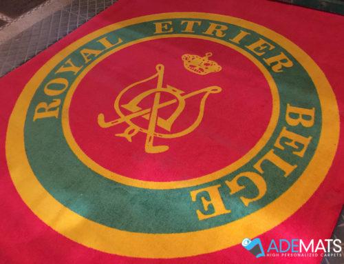 Tapis logo grand format pour le centre équestre «Royal Etrier Belge»